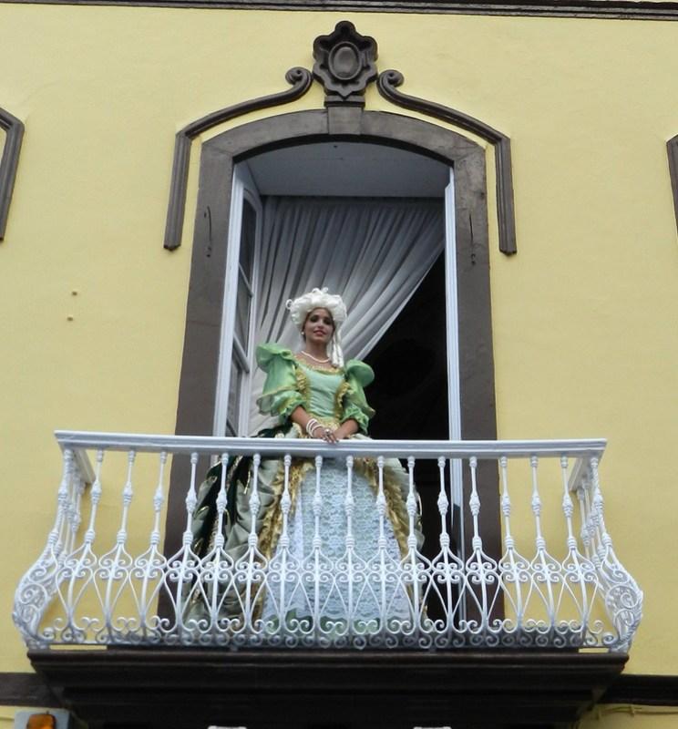 Escenografia en la calle del baile del Minué Fiestas Lustrales Santa Cruz de la Palma 2015 08