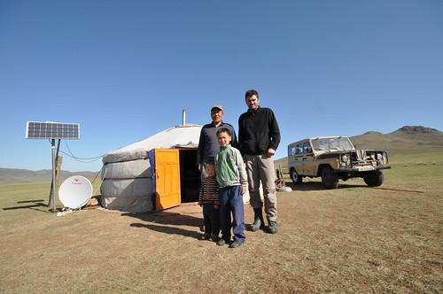 Herding family in Mongolia