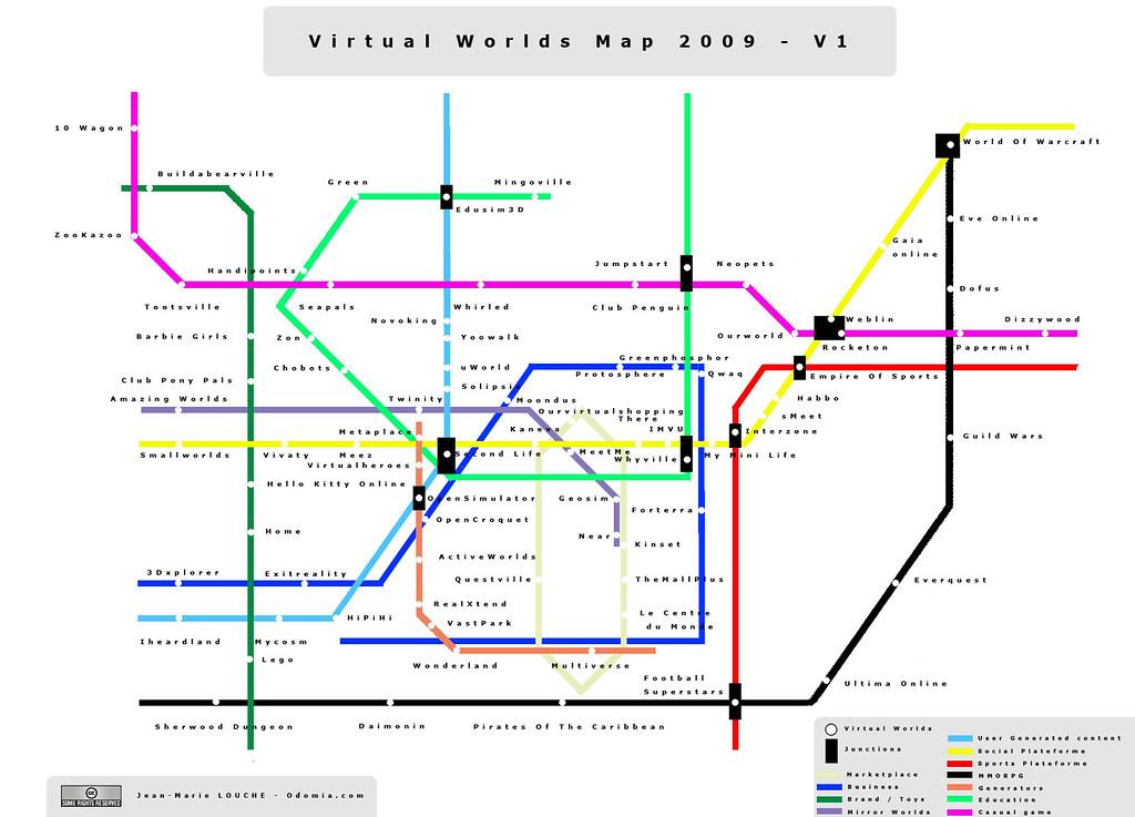 Virtual Worlds Map 2009 - V1