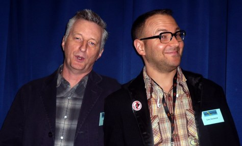 Billy Bragg and me, Convention on Modern Liberty, London, UK.JPG