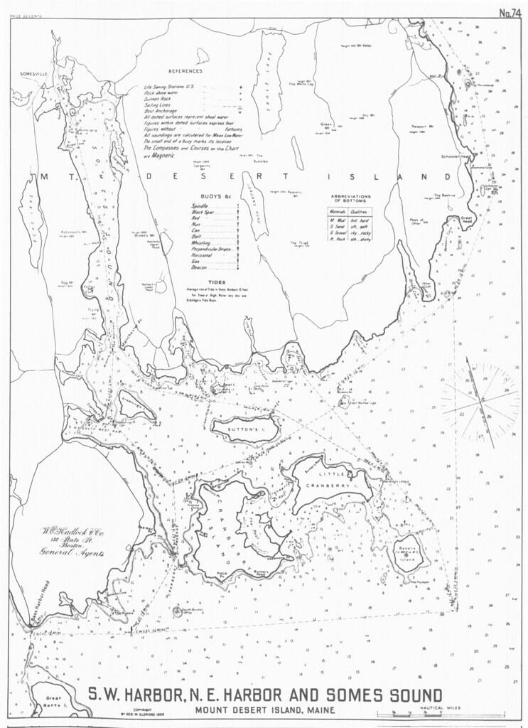 S.W. Harbor, N.E. Harbor and Somes Sound, Mount Desert Isl