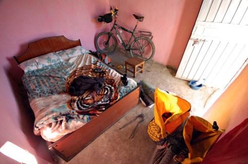 My hotel room in Gashena, Ethiopia