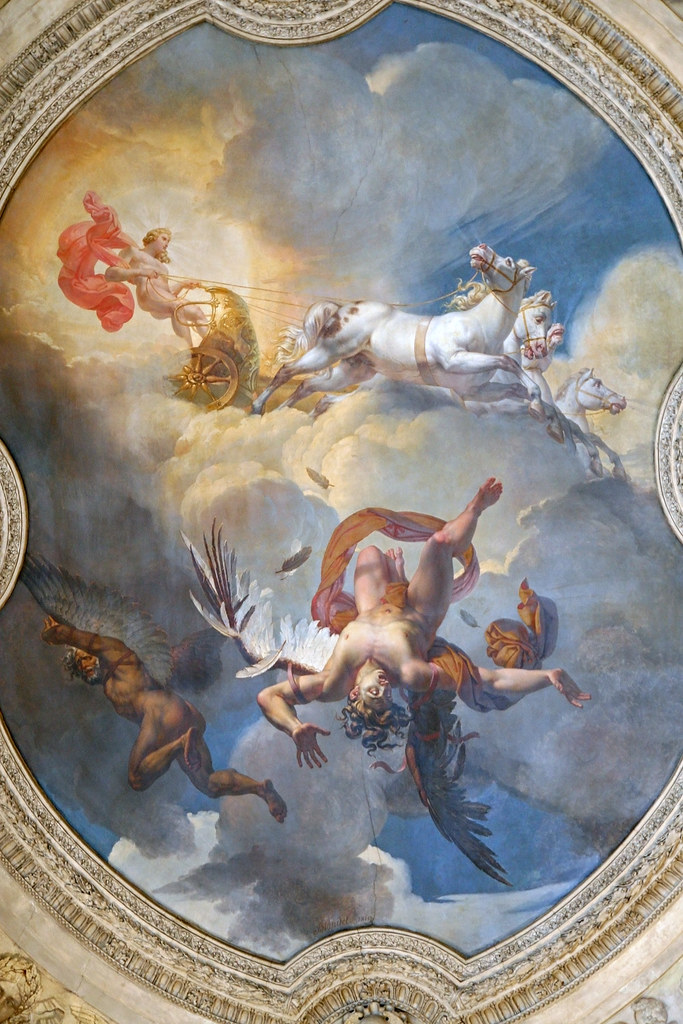 Icarus Falls In This Ceiling Mural At The Entrance To