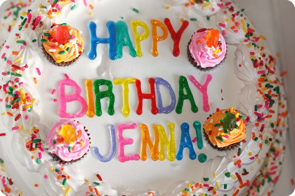 Happy Birthday Jenna Tcby Frozen Yogurt Cake Decorated By Flickr