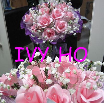 12紙雕玫瑰花+滿天星 hoivyii@yahoo.com.hk TEL:61930619(Ivy Ho) | Flickr