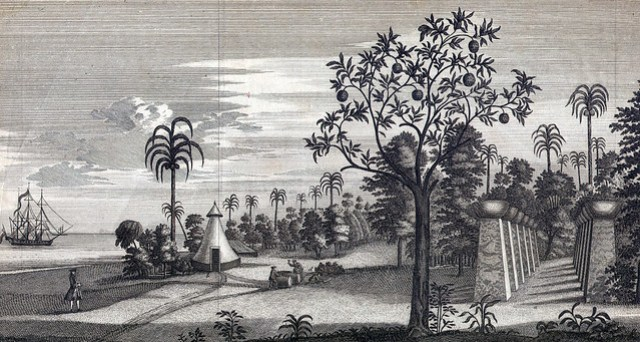 George Anson's Illustration of Taga House, 1742