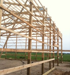 pole barn construction phase 2 day 1 framing complete by kb9khm [ 768 x 1024 Pixel ]