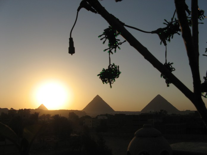 Egypt_536_吉薩金字塔日落景
