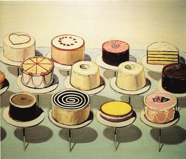 Wayne Thiebaud. Cakes And Counter. 1963. Scan