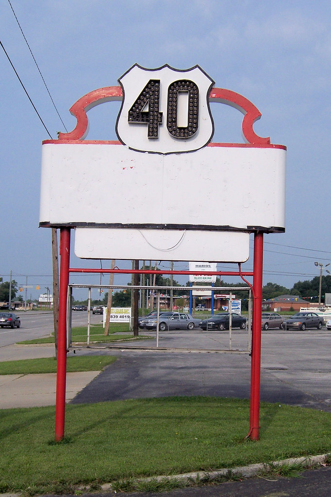 Roadside businesses on US 40