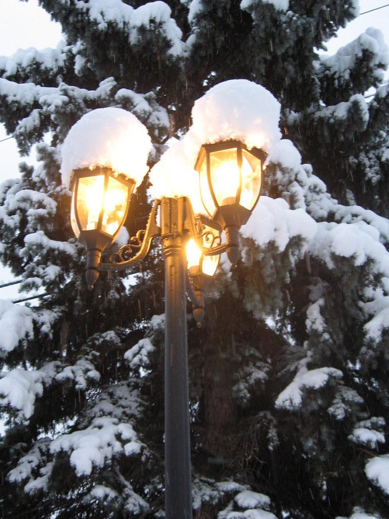 First Snow Home Depot Coach Lights  First Snow Home