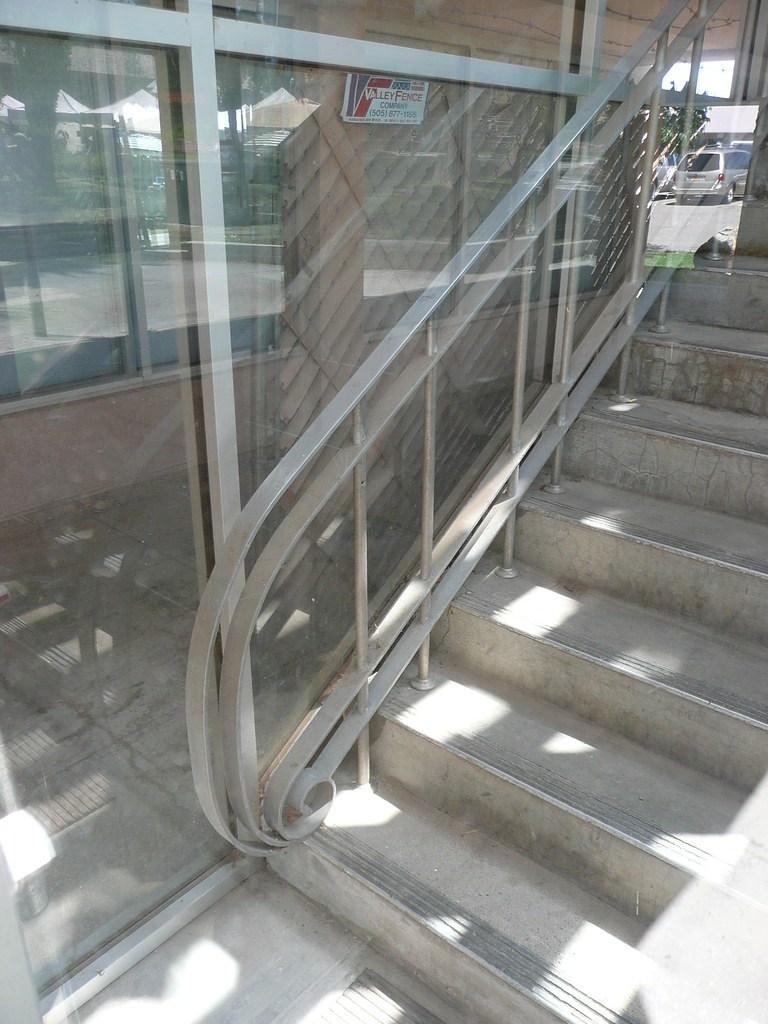 Los Alamos Nm Mid Century Modern Building Handrail Flickr   Mid Century Modern Handrail   Porch   Interior   Art Deco   Wooden   Railing