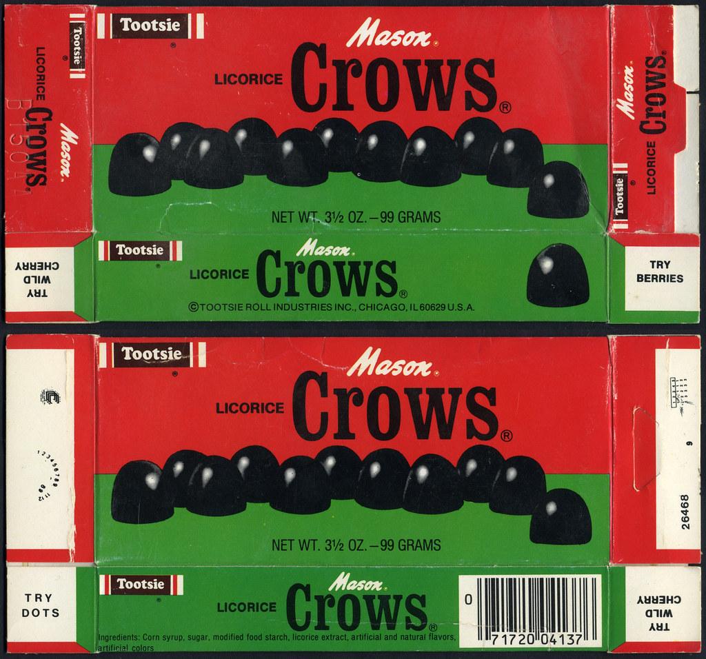 mason crows tootsie branded