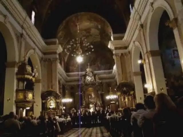 Video Liubliana concierto de canciones espirituales y populares rusas en Iglesia Eslovenia Ruskih Duhovnih in Narodnih Pesmi 1