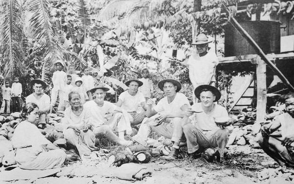 Marines Visit Chamorro Family