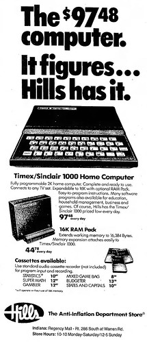 Vintage Newspaper Advertising For The Timex Sinclair 1000