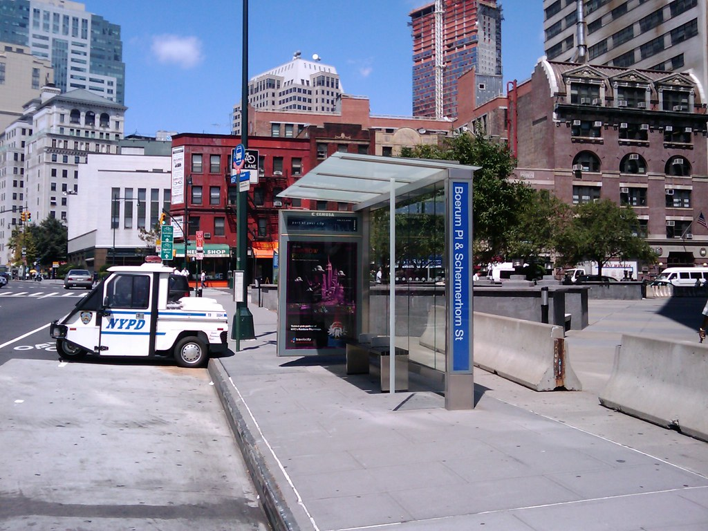 Bus Stop This Is What A New York Mta Bus Stop And