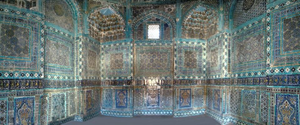 panoramica Samarkanda Necropolis Shah i Zinda Uzbekistan 21
