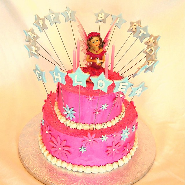 Pink Fairy Birthday Cake Girl This Cake Was For A Little Flickr