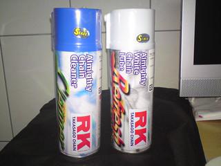 RK鏈條專用保養組   左為鏈條清潔劑,右為鏈條潤滑劑   儁庭 陳   Flickr