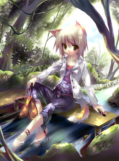 wolf neko anime girl
