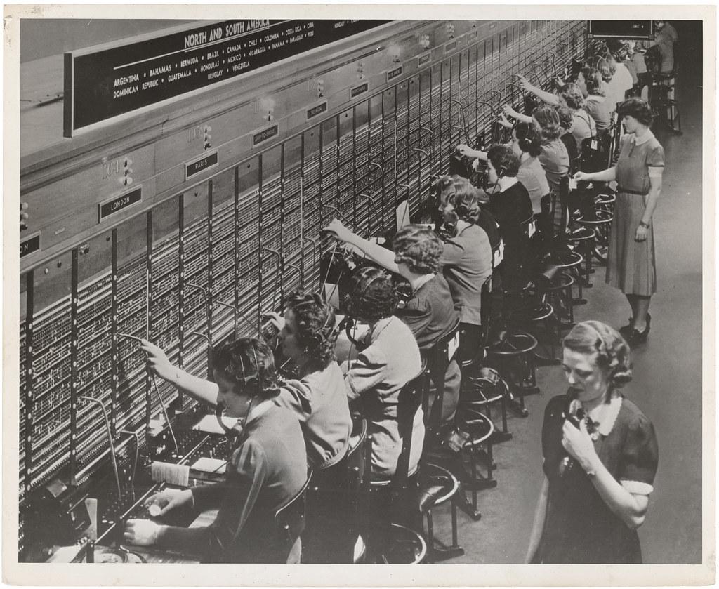 photograph of women working