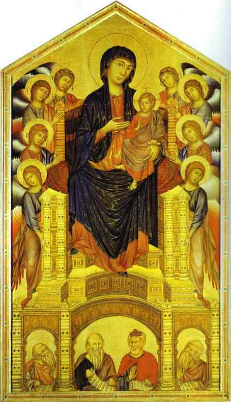 Cimabue Madonna Enthroned With Angels And Prophets : cimabue, madonna, enthroned, angels, prophets, Cimabue, (1240c.-1302c.), Madonna, Child, Enthroned…, Flickr