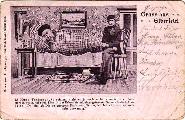 李鴻章   李鴻章怎么啦?? 該明信片1900年在德國國內郵寄。其背面見B65. Who can translate t…   Flickr
