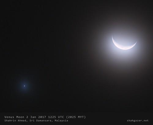 Moon Venus 2 Jan 2017