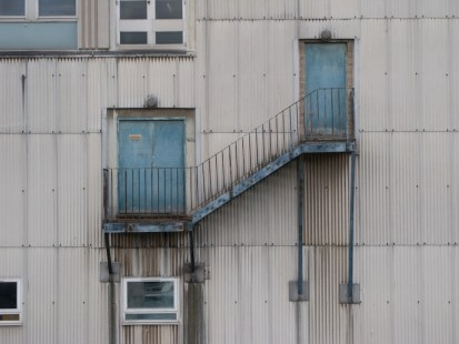 Laural & Hardy fire escape