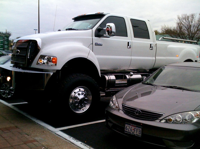 giant pick up truck
