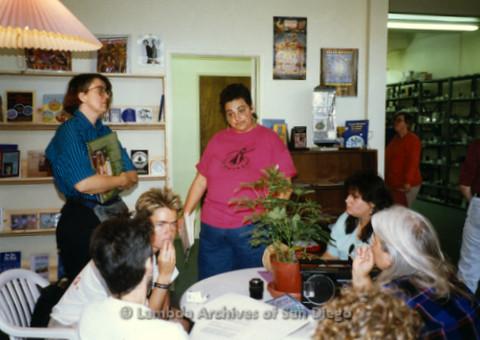 P169.046m.r.t Paradigm Women's Bookstore Grand Opening: Women sitting around table at bookstore