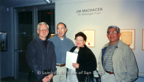 P126.036m.r.t Michelangelo Project by Jim Machecek: Jim Machecek on far left