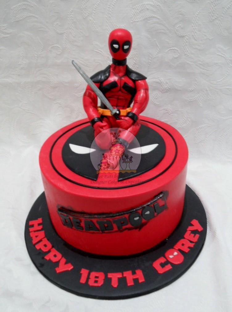 Deadpool Themed Cake Copy A Deadpool Themed Cake For A