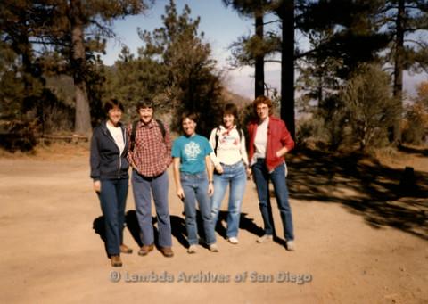 P008.103m.r.t Laguna Mountains November 1984: Group photo