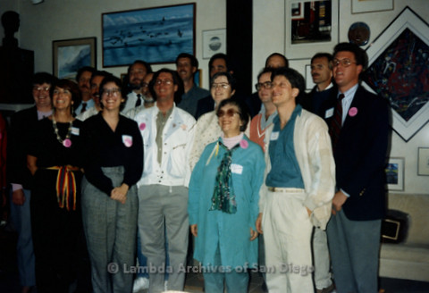P341.004m.r.t San Diego Democratic Club 1991 installation: Group photo