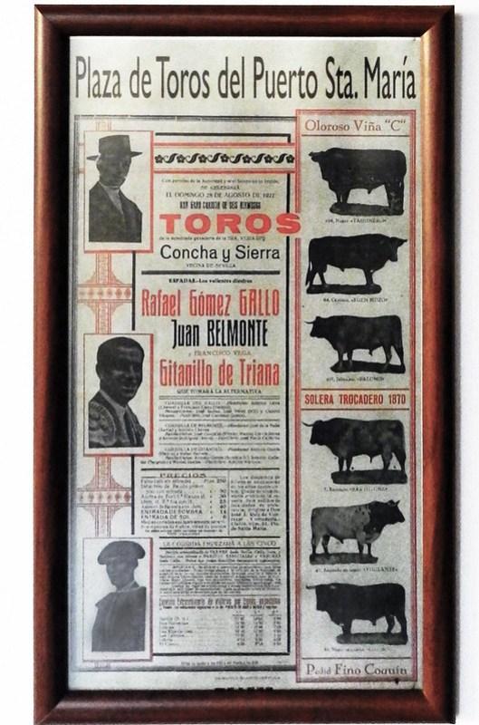 Ubeda Exposición Taurina cartel anunciador de la corrida en Puerto de Santa Maria