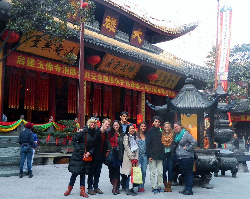 in front of the Jade Buddha temple in Shanghai   amontemayor2012   Flickr