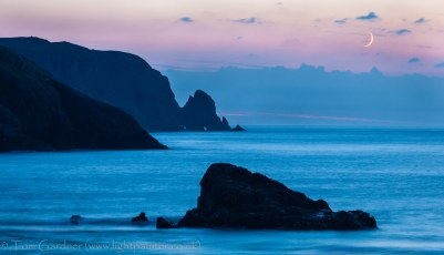 Gloaming after the sunset at Kearvaig, Cape Wrath
