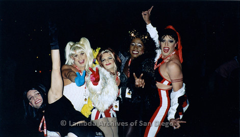 P184.008m.r.t Nightmare On Normal Street: A group of men dressed as the Spice Girls