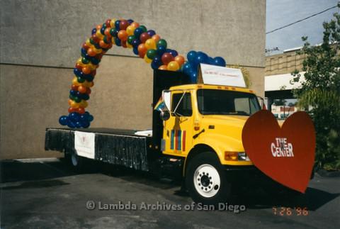 P234.028m.r.t SD Pride Parade 1996: Parade float for The Center