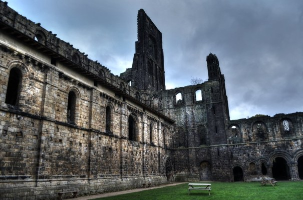 Kirkstall Abbey Side Wall