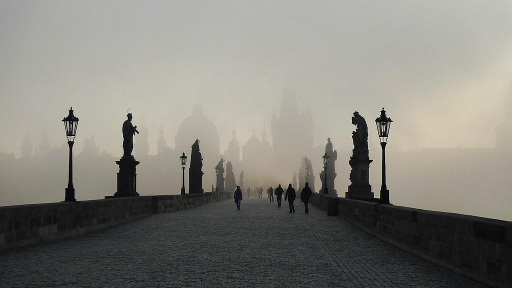 Prague: Charles Bridge in the Mist (Explored)
