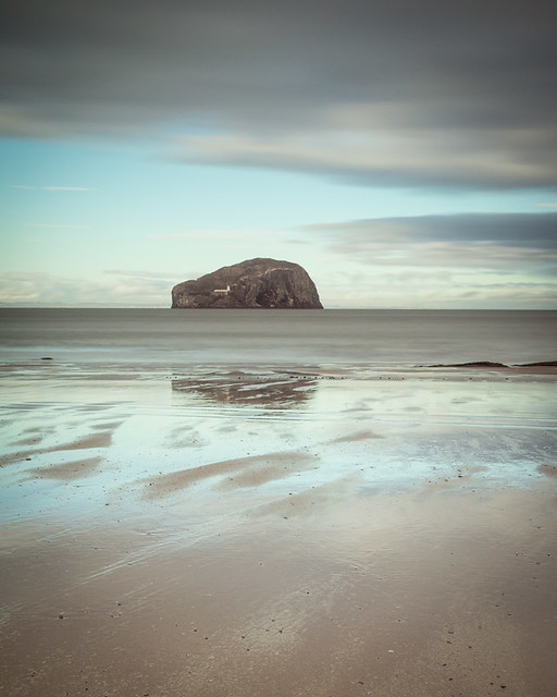 Bass Rock from Seacliffe, East Lothian