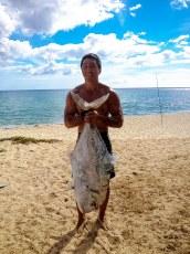 Caught using fresh tako from A&P fishing supply. 40 lb kagami. Ruban