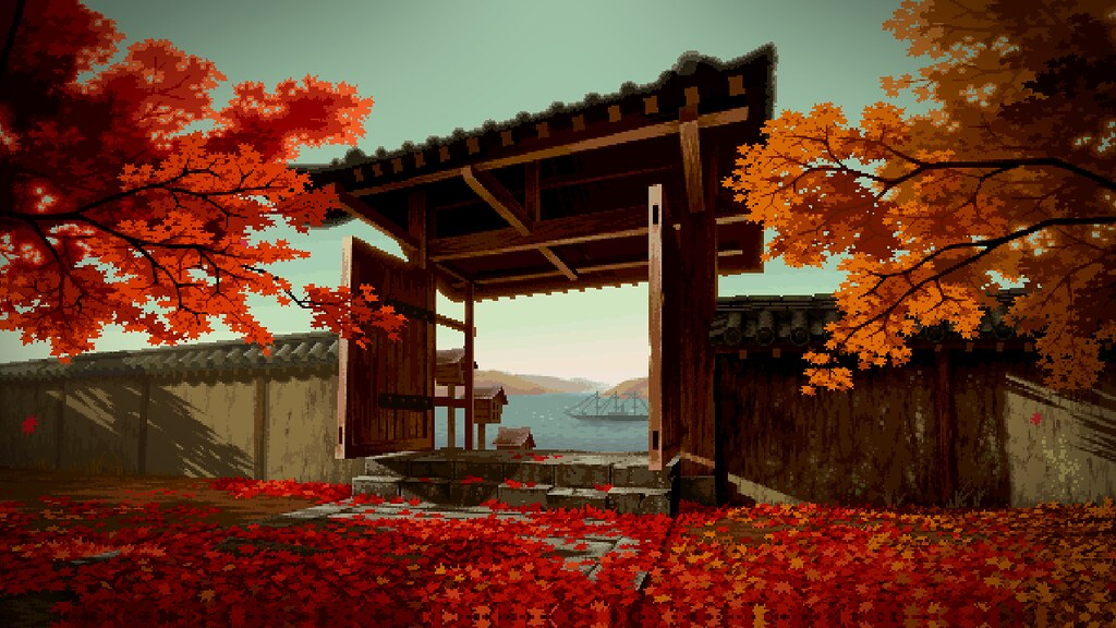 Hd Live Wallpaper In 3d Traditional Japan Pixel Art Wallpaper Trabajos De