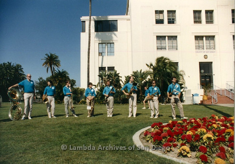 P012.027m.r.t San Diego Walks for Life 1986: America's Finest City Freedom Band playing