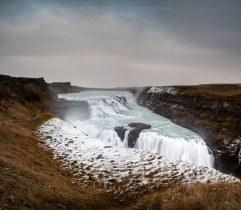 snowy Gullfoss