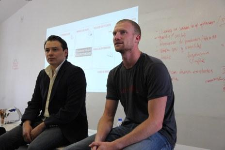 Steven and Oscar facilitating a workshop