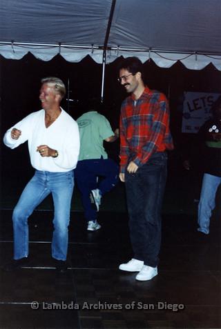 San Diego LGBTQ Pride Festival, July 1995: Merle Johnson (left) dancing